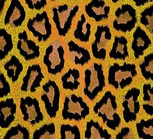 Abstract gold black hipster animal print  by Maria Fernandes