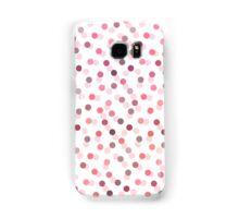 Pastel girly pink vintage polka dots pattern  Samsung Galaxy Case/Skin