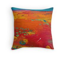 Red country Throw Pillow
