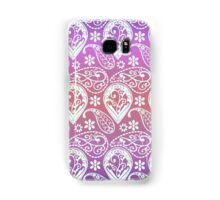 Vintage pink coral gradient floral paisley pattern Samsung Galaxy Case/Skin