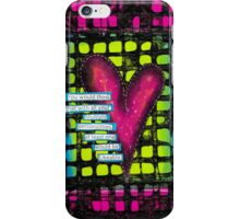 Mixed Media Neon Heart iPhone Case/Skin