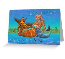 10th Birthday Card .. the mermaid Greeting Card
