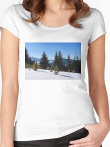 Little Pine Forest - Impressions of Mountains Women's Fitted Scoop T-Shirt