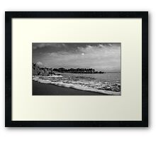 I Touch The Waves Framed Print