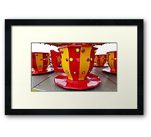 Tea Cup Red Framed Print