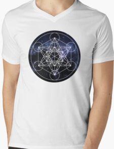 Metatron's Cube Mens V-Neck T-Shirt