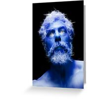 Self Portrait in Blue Greeting Card