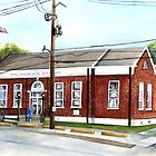 Historic District Post Office  by Elaine Hodges