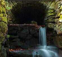 Waterfall tunnel by AttiPhotography