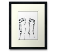 Happy feet Framed Print
