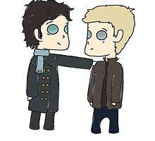 Sherlock & John by gripmetightcas