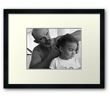 Tattoos and pony tails ( Trailer Park America Series) Framed Print