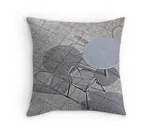 Gray Day on the Patio Throw Pillow