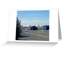 8 wheels and a Trapped SUV.  Greeting Card