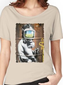 Banksy at HMV Women's Relaxed Fit T-Shirt