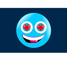 Smiley in Love Photographic Print