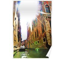 gondola ride and sun flare Poster