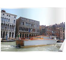 boat on venise river Poster