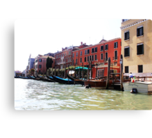 row of gondolas Canvas Print
