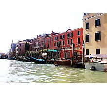 row of gondolas Photographic Print