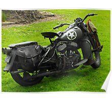 Army Motorcycle Poster