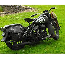 Army Motorcycle Photographic Print