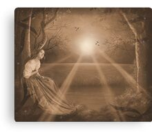 Forest retreat in Sepia Canvas Print