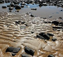 Sand Ripples on the beach, Penguin, Tasmania, Australia. by kaysharp