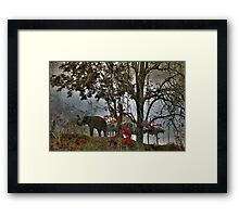 Elephants in north Thailand Framed Print