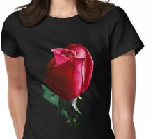 Rose Red. Womens Fitted T-Shirt