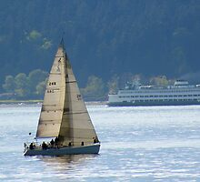 Alki Sailing by tmtphotography