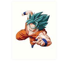SSGSS Goku Art Print