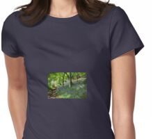Whacky Bluebell Wood  Womens Fitted T-Shirt