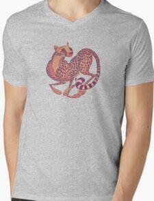 Cheetah Mens V-Neck T-Shirt
