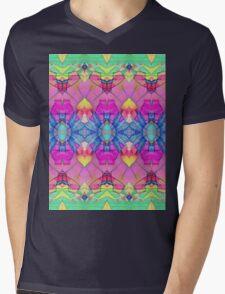 Fractal Geometric Flowers Mens V-Neck T-Shirt
