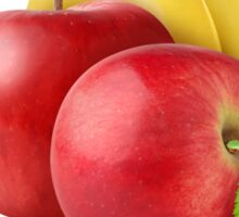 Banana and red apples Sticker