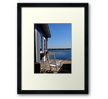 Rocking chair view Framed Print