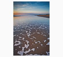 Wave Patterns on Harlech Beach at Sunset One Piece - Long Sleeve