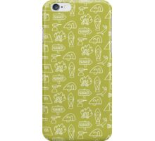 Camping Doodle Print Lime iPhone Case/Skin