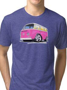 VW Bay Window Camper Van A Pink Tri-blend T-Shirt