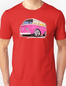 VW Bay Window Camper Van A Pink T-Shirt