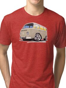 VW Bay Window Camper Van B Cream Tri-blend T-Shirt