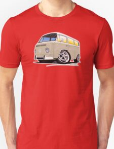 VW Bay Window Camper Van B Cream T-Shirt
