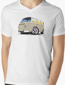 VW Bay Window Camper Van B Cream Mens V-Neck T-Shirt