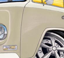 VW Bay Window Camper Van B Cream Sticker
