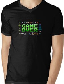 Game over, 80s style. Mens V-Neck T-Shirt