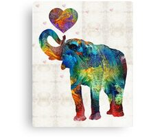 Colorful Elephant Art - Elovephant - By Sharon Cummings Canvas Print