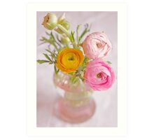 Butter Cups - A vase full of colour Art Print