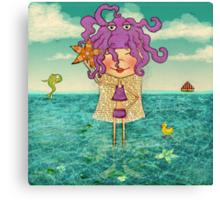 Milli on the sea Canvas Print