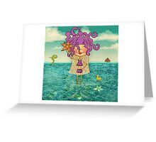 Milli on the sea Greeting Card